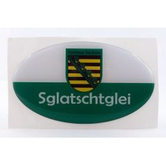 Aufkleber Sachsen Ostprodukt Ossi Spruch Sglatschtglei jeden echten Sachsen Autofahrer Sachsen