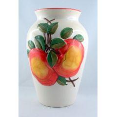 Vase Keramik mit  Motiven verschönert Wohnbereich individuelle Dekogestaltung