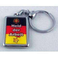 Schlüsselanhänger Sachsen Held der Arbeit rmassives Metall 3D Ostprodukt Ossi