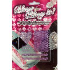 Selbstklebende Handyverzierungen Aufkleber Dekoration Sticker Handy Handyschmuck eine schöne Dekoration