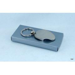 Flaschenöffner Schlüsselanhänger Design  Edelstahl Silber