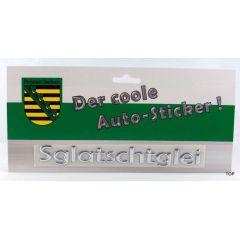 Autosticker Sachsen Aufkleber Sglaschtglei Schriftzug Silber