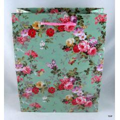 Geschenktüte Streublumenmuster in attraktiver Farbgebung Maße:  23 x 18 x 10 cm