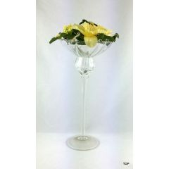 Glas  Kerzenständer mit gedrehten Stiel