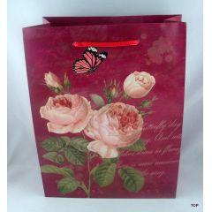 Geschenktüte Rosen ist genau das Richtige für Ihre Geschenkverpackung Maße:  23 x 18 x 10 cm