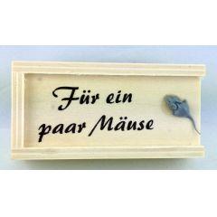 Geschenkkästchen Schachtel Holz Party Feste Geldgeschenke Für ein paar Mäuse