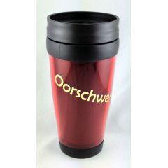 Sachsen Thermobecher Oorschwerbleede sächsisch rot Kaffeebecher Spruch DDR Ostalgie