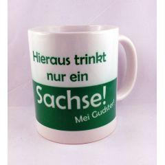 Tasse Kaffeetasse Hieraus trinkt nur ein Sachse Kaffeetasse Sachsen Porzellan Deko Ostprodukt