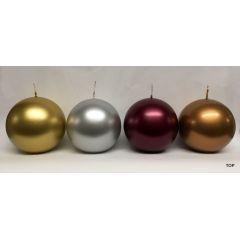 Kugelkerzen 9,8 cm Durchmesser metallic 4 Stück pro Farbe in verschiedenen Farben