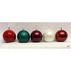 Kugelkerzen 5,8 cm Durchmesser metallic 4 Stück pro Farbe in verschiedenen Farben