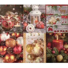 Geschenktüte Geschenkverpackung Weihnachtstüte Papiertüte  Weihnachtstasche 23 x 18 x 10 cm