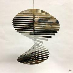 Spirale Edelstahl Hochglanz poliert Windspiel Rostfrei Höhe 12 cm