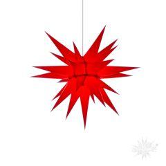 Original Herrnhuter Stern i6 aus Papier für die Innenverwendung, rot