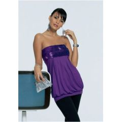 Bandeautop Melrose, 32, 34, farbe lila