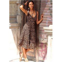 Kleid, Chillytime, 32, farbe braun print