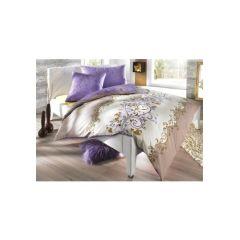 Bettwäsche, 1 Duvet 200x210 cm und 2 Kissen 65x65 cm, farbe beige/ violet