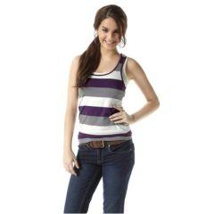 Top + Bustier AJC girls, 42, 46, farbe lila-grau gestreift