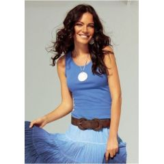 4 Stück Solo Top Laura Scott, 44/46, weiß, blau, khaki, pink