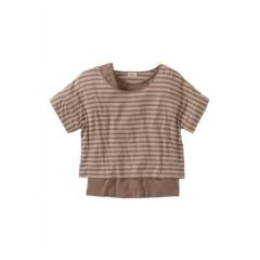 Shirt Sheego, 52/54, farbe braun-beige