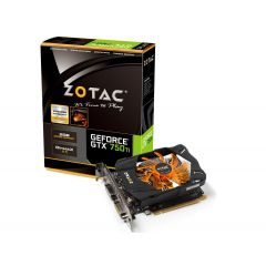 ZOTAC GeForce GTX 750 Ti - Grafikkarten - GF GTX 750 Ti - 2 GB GDDR5 - PCI Express 3.0 x16 - 2 x DVI