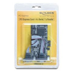 DeLOCK PCI Express Card 4 x Seriell, 1x Parallel