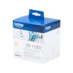 Brother Einzeletikettenrollen DK-11207, CD/DVD-Etiketten, 100St/Rolle, Durchmesser:58 für QL-500 /-
