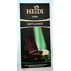 Heidi Schokolade Dark Mint & Lemon 80g