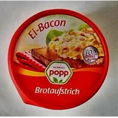 Popp Brotaufstrich Ei-Bacon Salat 150g