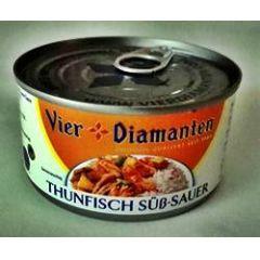 Vier Diamanten Thunfisch süß-sauer