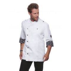 Fashionable Rock Chef`s Jacket White 48 (M)