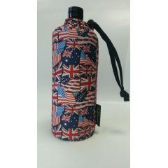 Flasche 0,6 Liter Angelsächsisch UK Flags Glasflasche Trinkflasche Isolierflasche Germany Glas