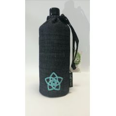 Flasche 0,6 Liter Venusblume türkis Glasflasche Trinkflasche Isolierflasche Germany Glas