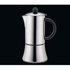 Espressokocher Tiziano 6 Tassen schwarz Edelstahl Espressomaker Induktion Mokka Bereiter