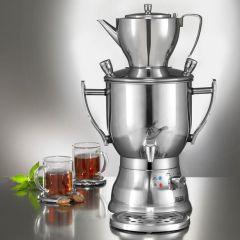 Samowar 3003C silber Teekocher Teezubereiter Samovar Teemaschine Teekanne zubereiten Wasserkocher