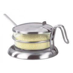 Parmesan Behälter Parmesanbehälter mit Deckel und Löffel Glas Aufbewahrung