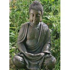 Buddha Figur Skulptur sitzend Asia Lotus Dekoration 40 cm betend meditierend Feng Shui