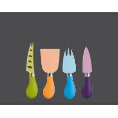Käsemesser-Set bunt 4-tlg. Easy Cut Messerset Käseschneider Käse Küchenmesser schneiden
