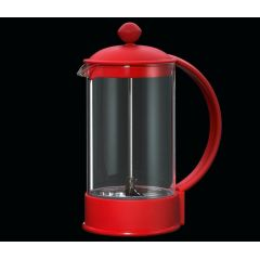Kaffeebereiter Trend rot 8 Tassen Kaffeedrücker Kaffee kochen Kaffeezubereiter French Press