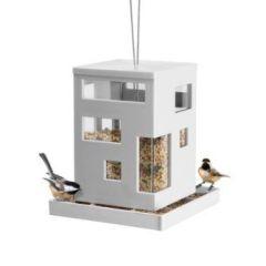 Vogelhaus weiß Bird Cafe Feeder Vogelhäuschen Vogelfutterstation Futterstelle Futterhäuschen Futter