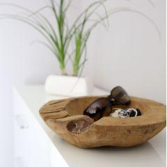 Dekoschale Teak 30 cm Holz Holzschale Deko-Schale Dekoration Unikat einzigartig
