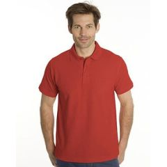 SNAP Polo Shirt Star - Gr.: M, Farbe: rot