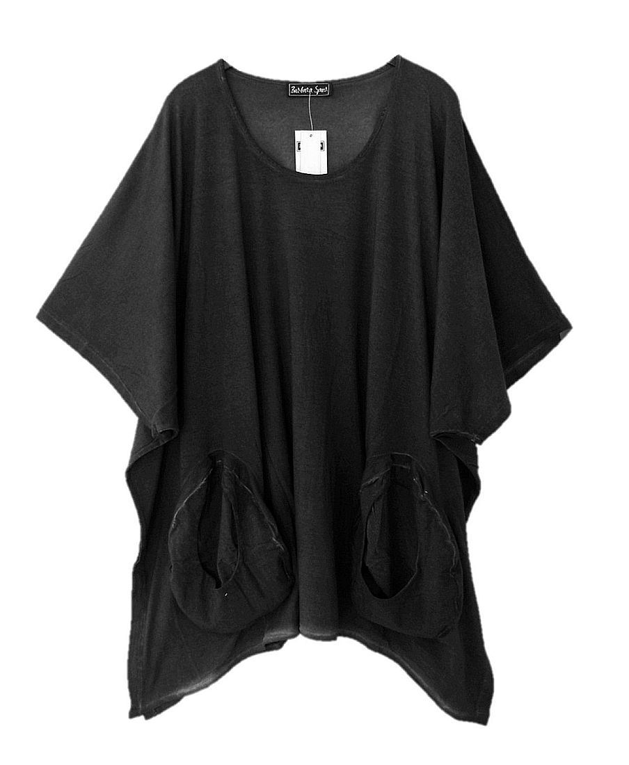 verschiedene Stile große sorten beste Angebote für Anthra old look, One size, 100% Bio-Baumwolle - Barbara Speer Shirt Tunika  Übergröße