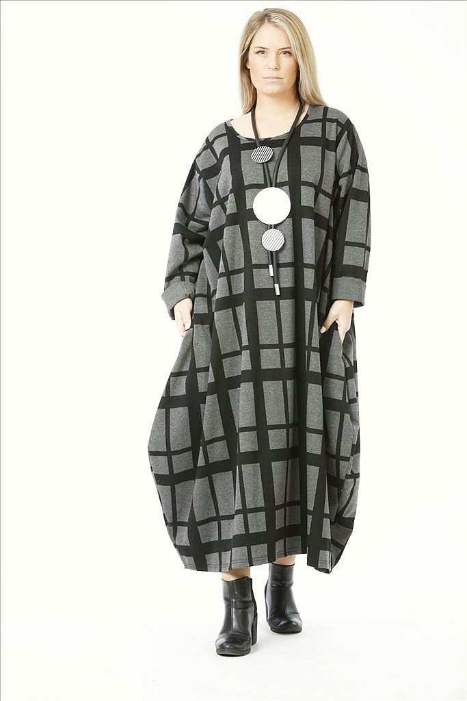 Lagenlook Kleider schwarz-grau Herbst Winter von AKH Fashion