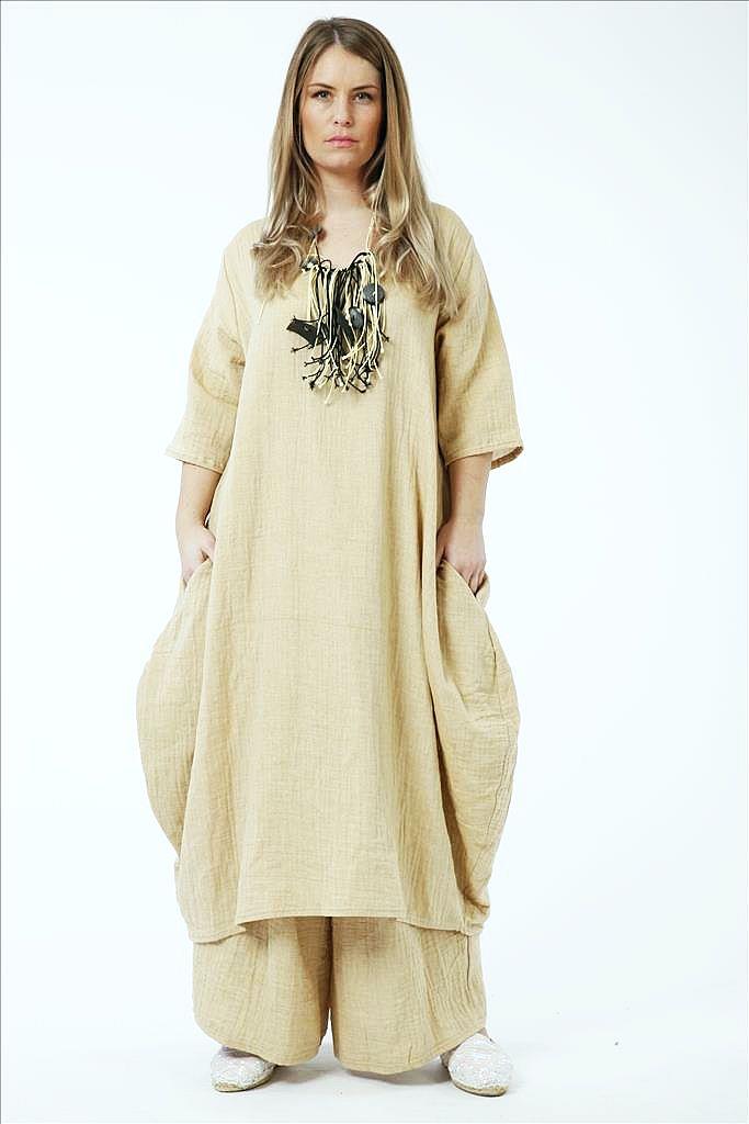 Lagenlook Kleider Baumwolle-Viskose von AKH Fashion