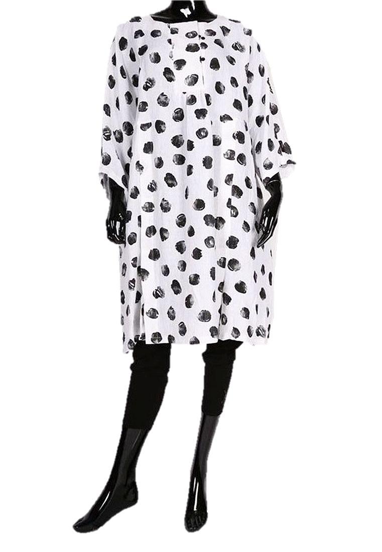 Lagenlook Tunika-Kleid Leinen Baumwolle von Chalona ...