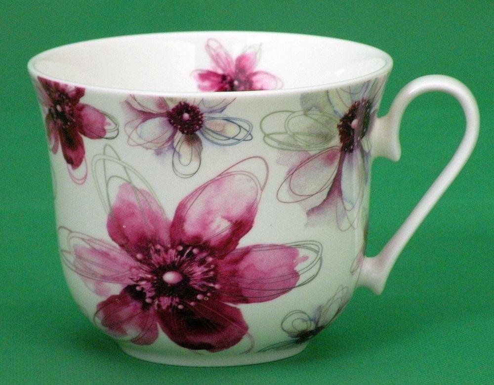 jameson und tailor jumbotasse dekor bl ten pink brillantporzellan. Black Bedroom Furniture Sets. Home Design Ideas