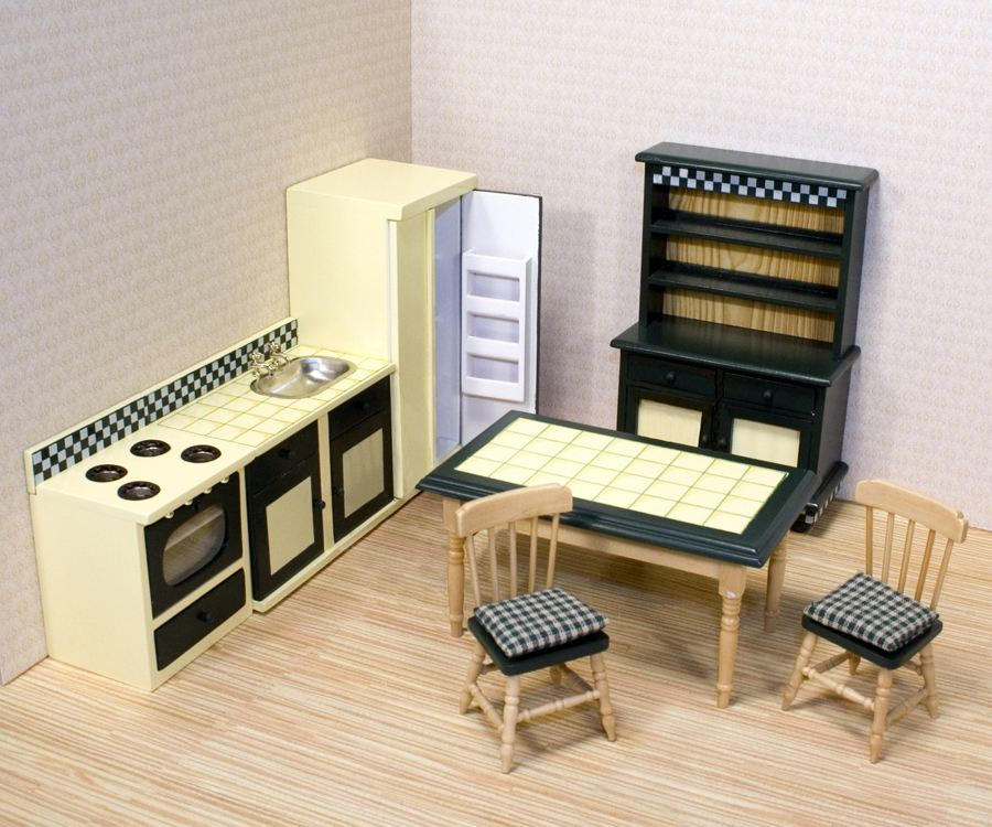 puppenhausm bel puppenhaus kueche puppenhausm bel miniaturen 1 12 lafeo. Black Bedroom Furniture Sets. Home Design Ideas
