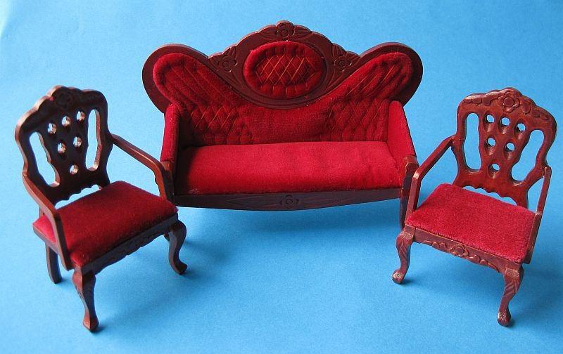 Polstergarnitur dunkelrot 3 tlg sofa 2 sessel for Sessel dunkelrot