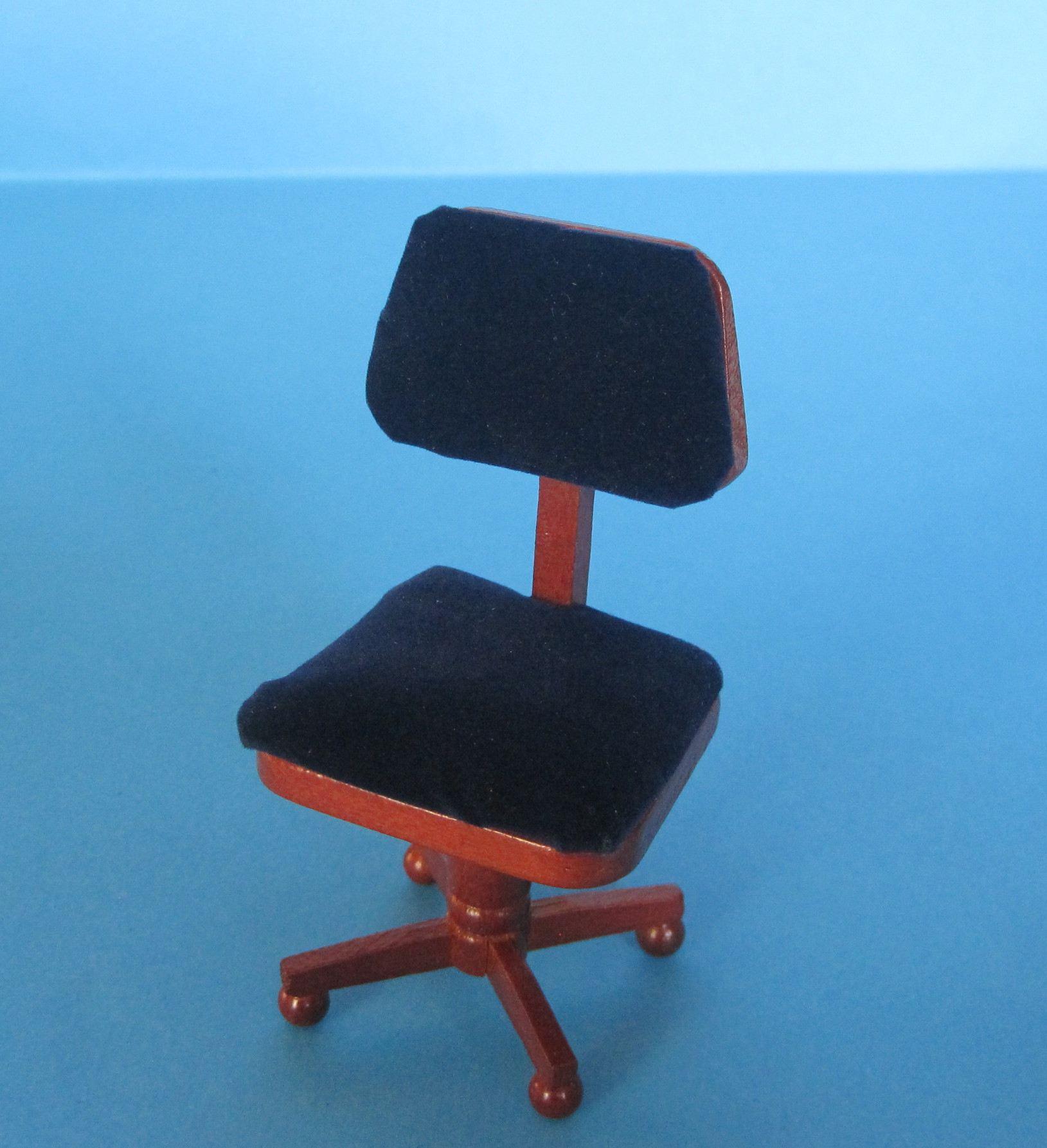 b rostuhl f r arbeitszimmer oder b ro puppenhausm bel miniatur1 12 wossiland. Black Bedroom Furniture Sets. Home Design Ideas