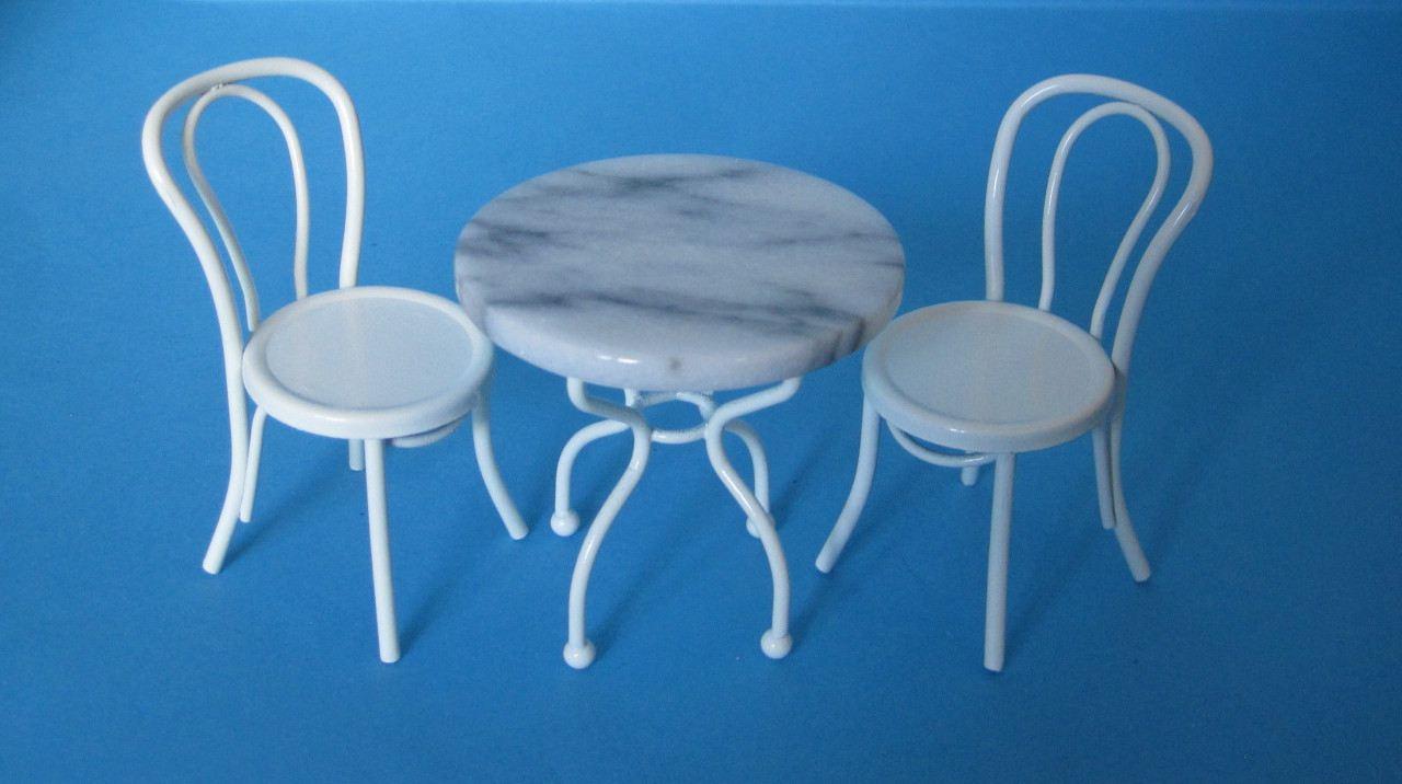 tisch und 2 st hle metall gartenm bel bistro set. Black Bedroom Furniture Sets. Home Design Ideas
